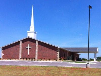 Completed Crosspoint Church construction in Stillwater, OK.