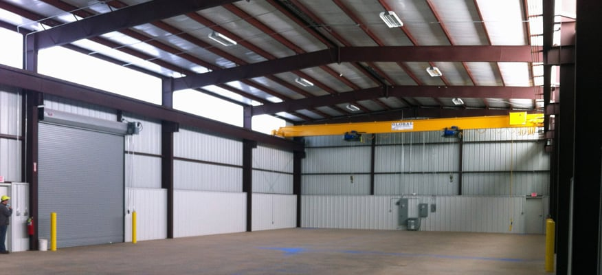 Completed QuickService Steel metal building interior construction.
