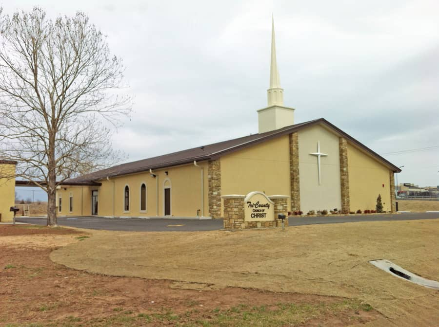 Tri-County Church metal building project finished construction.
